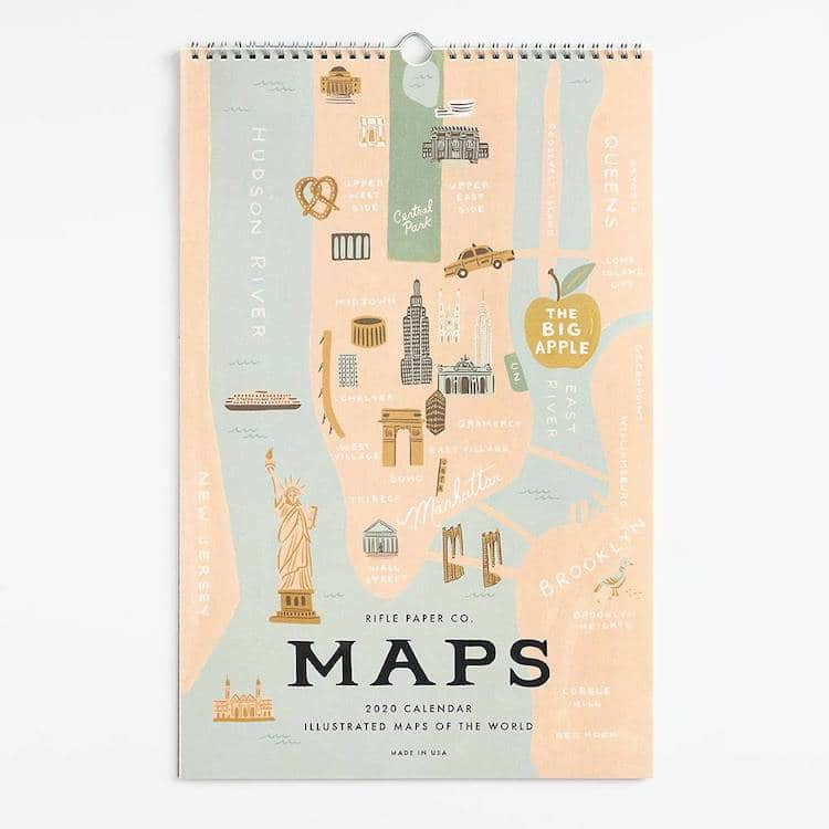 Calendrier mural City Maps 2020