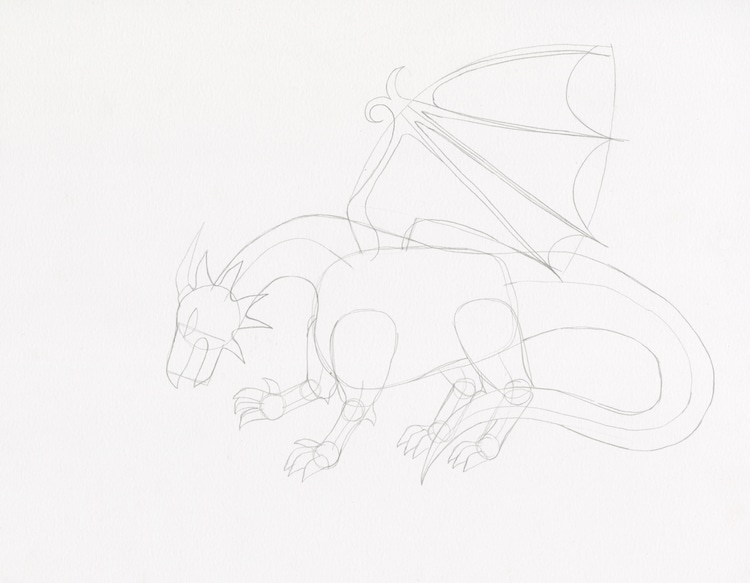 Comment dessiner un dragon 4