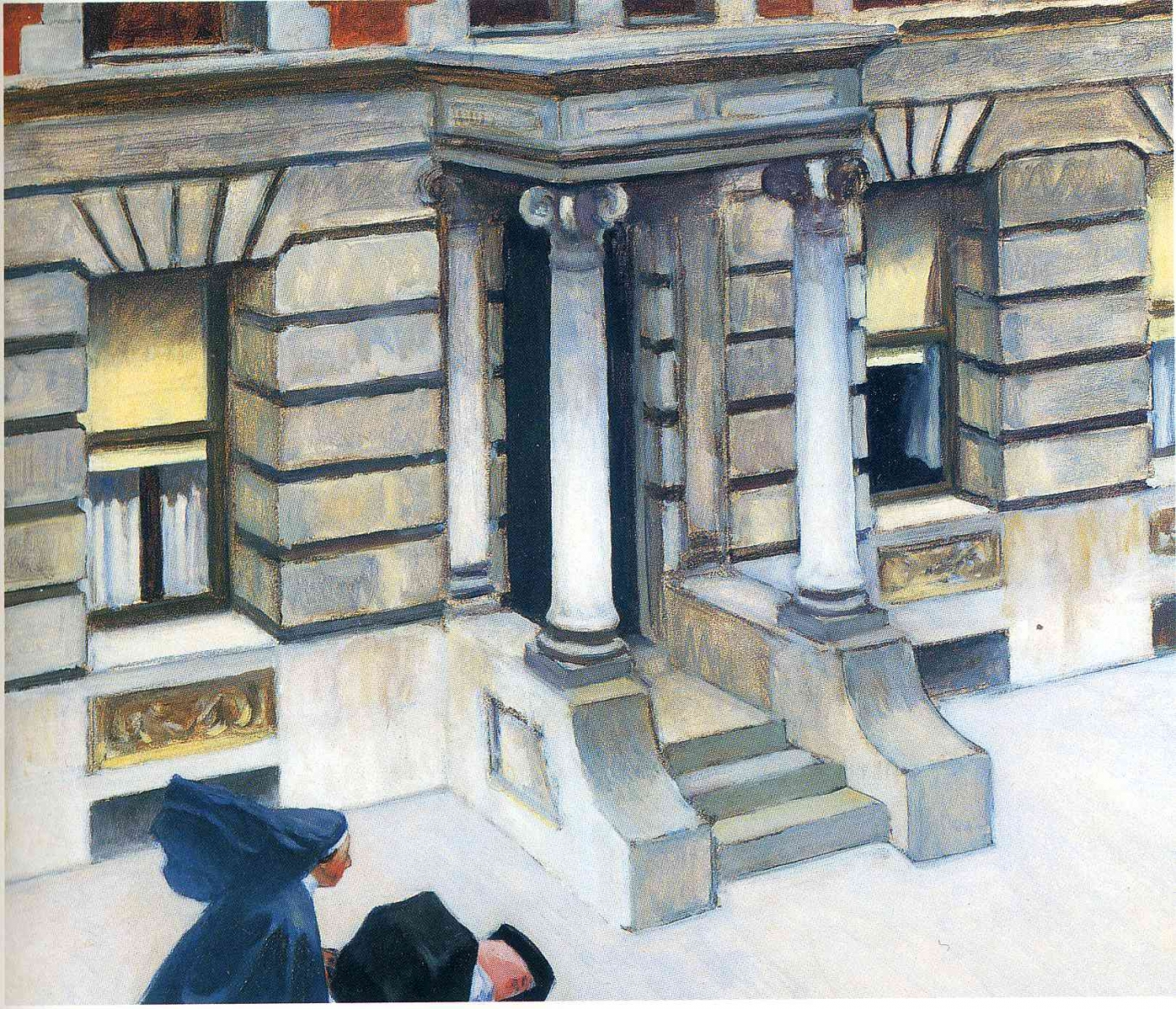 New York Pavements par Edward Hopper