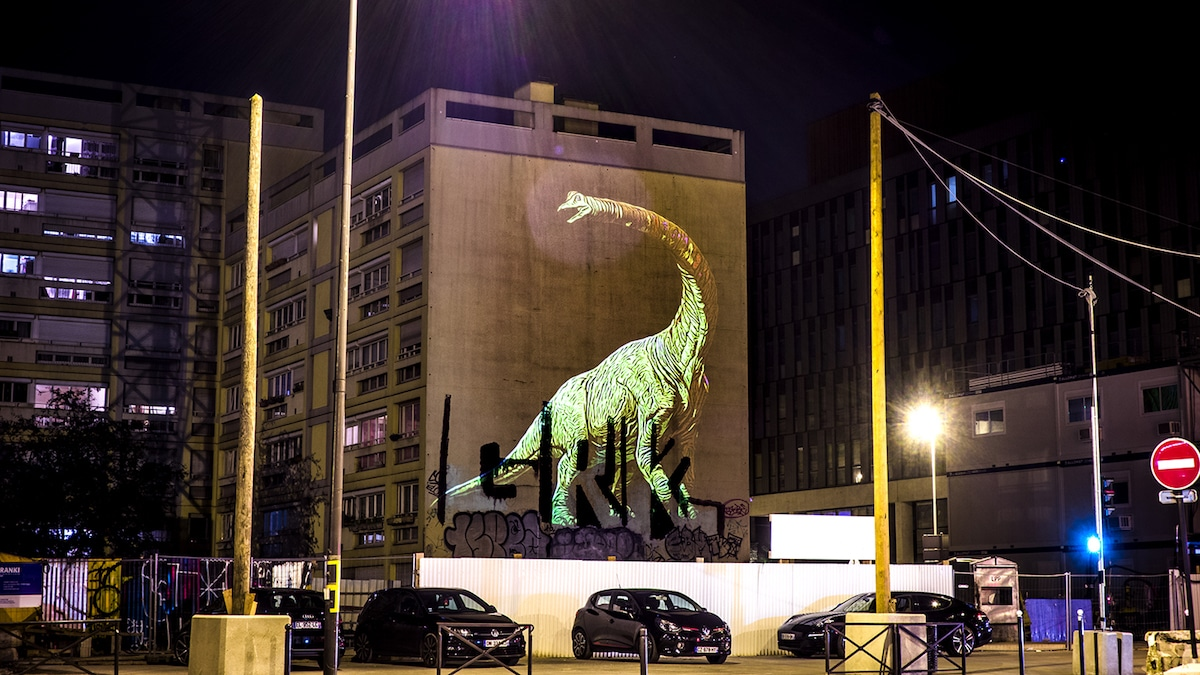 Julien Nonnon Safari Street Art préhistorique