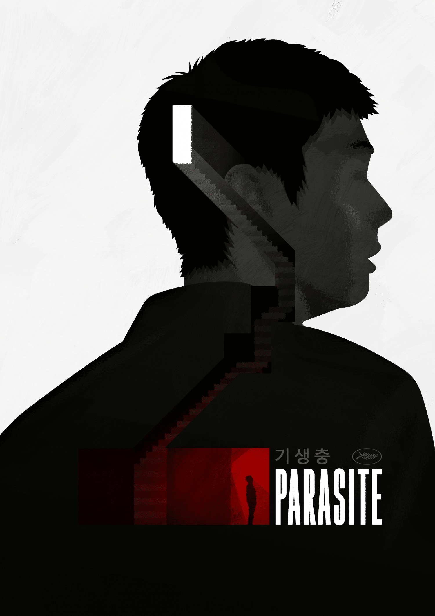 Affiche de film de parasite Tribute Art