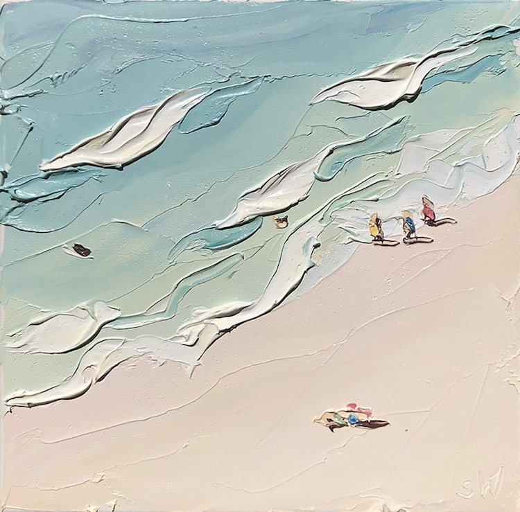 Peintures de plage en plein air par Sally West