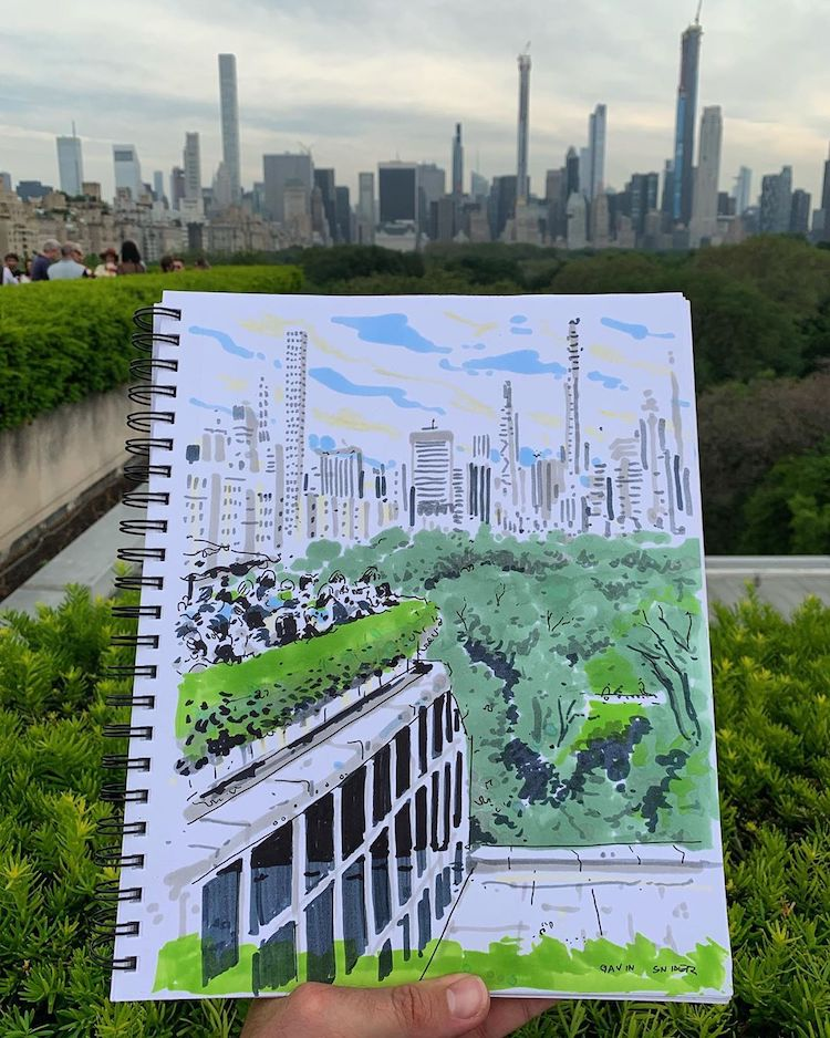 Croquis urbain d'art de New York