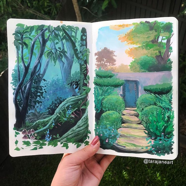 Sketchbook Paintings of Nature par Tara Jane