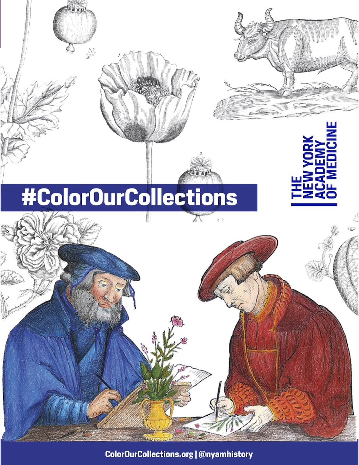 Coloriage gratuit de la New York Academy of Medicine