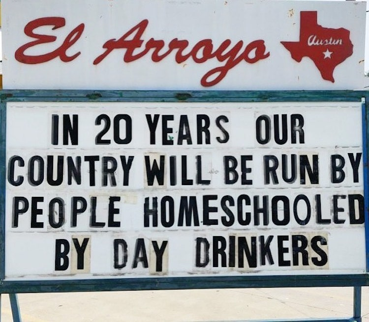 Funny Signs par El Arroyo Restaurant