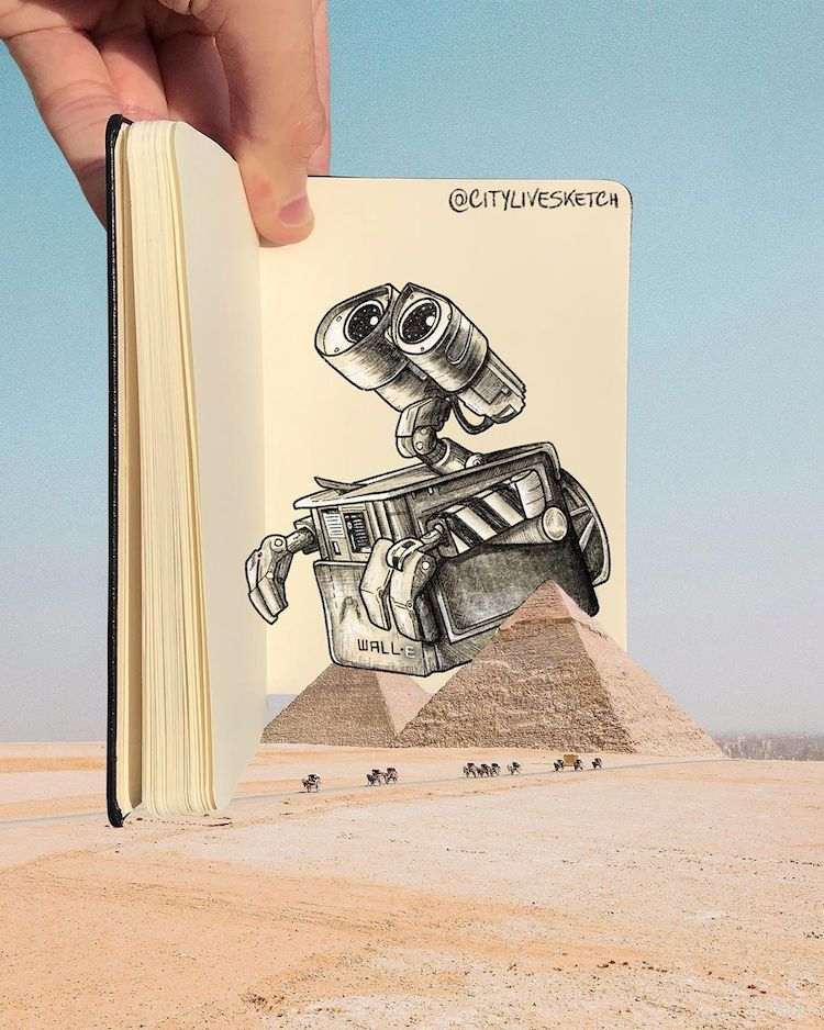 Dessins 3D par CityLiveSketch