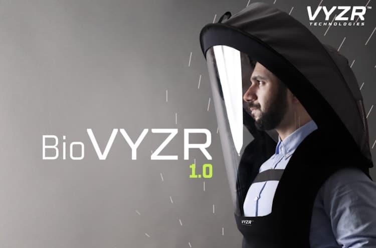 Écran facial purificateur d'air BioVYZR par VYZR Technologies