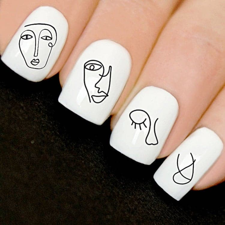 Sticker Nail Art