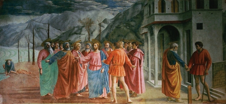 Peinture Fresco Tribute Money par Masaccio