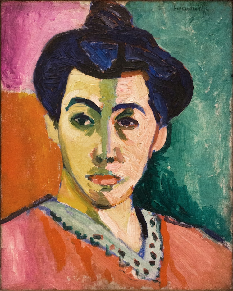 Henri Matisse, The Green Stripe (Portrait de Mme Matisse), 1905. National Gallery Copenhagen