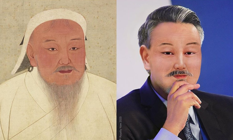 Gengis Khan repensé comme une figure moderne par Royalty Now