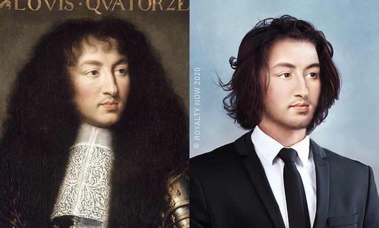 Louis XIV repensé comme une figure moderne par Royalty Now