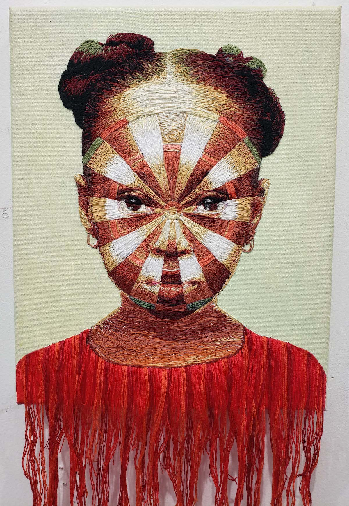 Mixed Media Portrait of a Black Girl par Nneka Jones