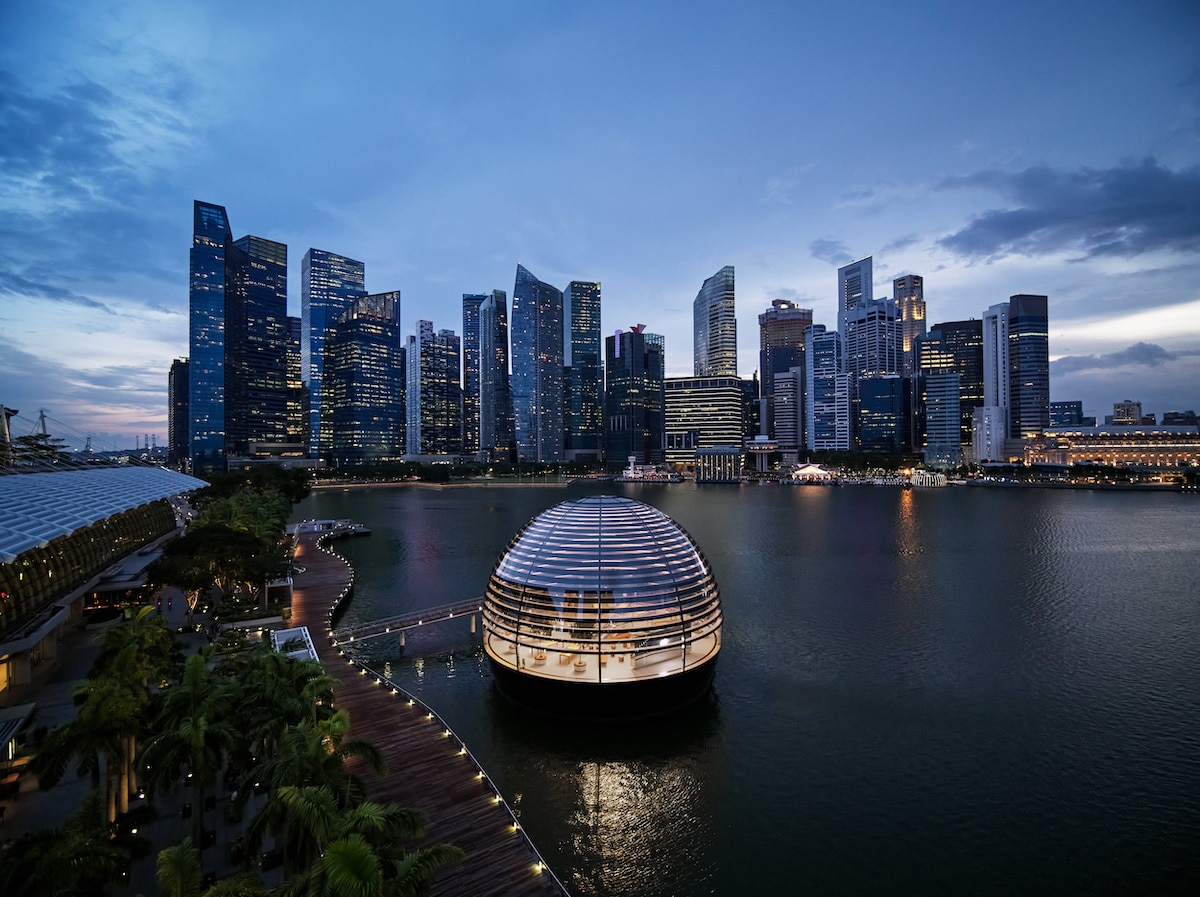 Apple Store - Marina Bay Singapour - Foster + Partners