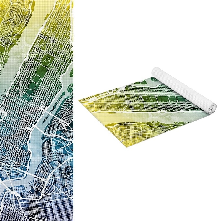 NYC Map Yoga Map