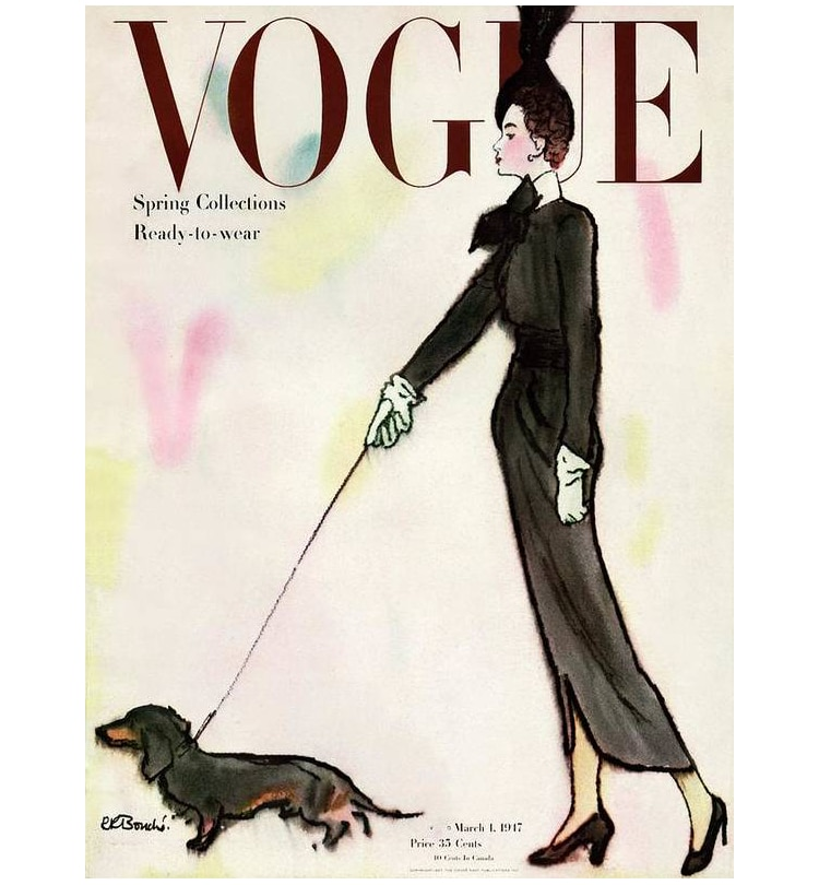 Couverture de Vogue 1917 René R. Bouche